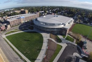 Erie Insurance Arena Aerial View